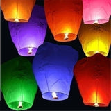 10/20/30Pcs 9 Colors Chinese Paper Lanterns Sky Fly Candle Lamp for Wedding Christmas Festival Party