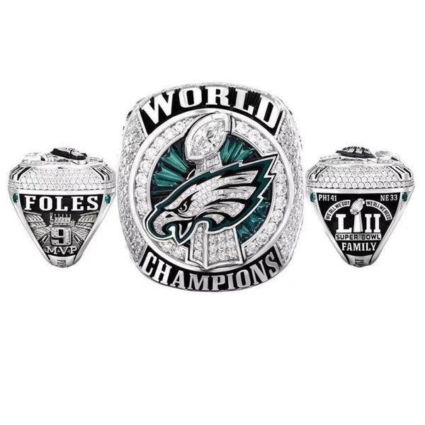 2017 - 2018 Philadelphia Eagles Football Team Black 316L Stainless Steel Men Ring