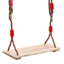 Load image into Gallery viewer, Adults and Children Swing Wooden Swing with Rope Toys for Children Outdoor Garden Swings