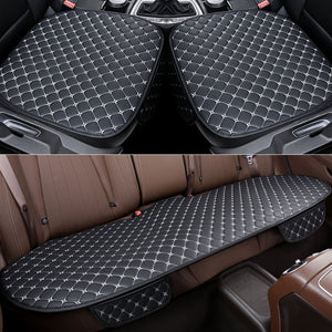 Leather Car Seat Cover Set Front Car Seat Cover Rear Seat Covers for Car Seat Pad Car Seat Protector Car Interior Accessories