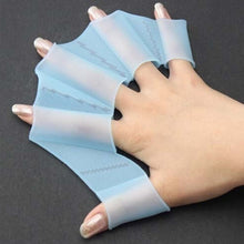 Load image into Gallery viewer, 2 pcs Swimming Finger Webbed Gloves Frog Hand Gear Fins Palm Flippers