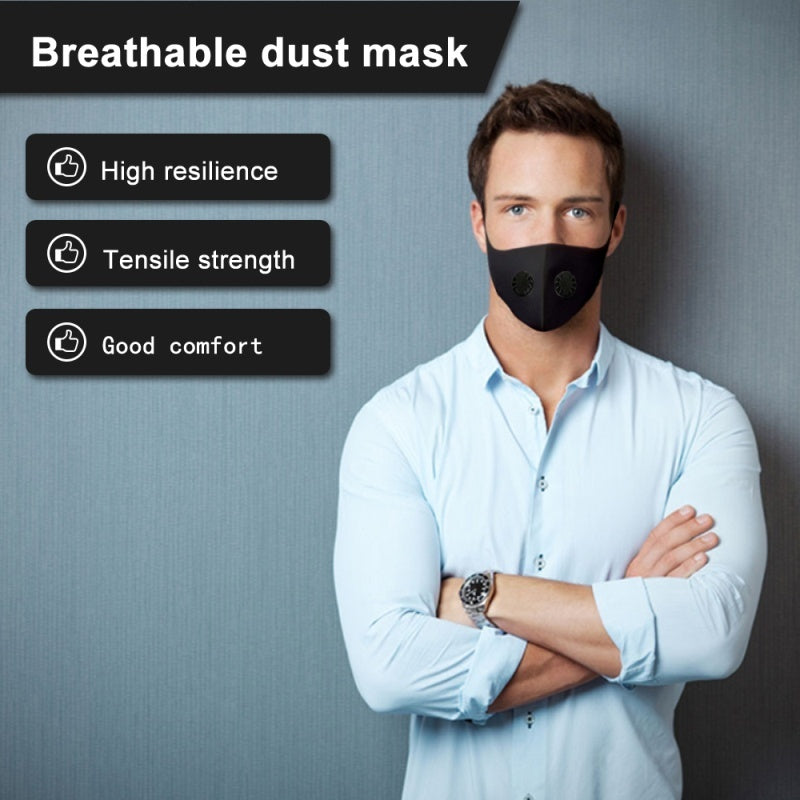 2020 NEW Pollution Mask Military Grade Anti Air Dust and Smoke Pollution Mask with Adjustable Straps and a Washable Respirator double valve Mask Made For Men Women and Kids