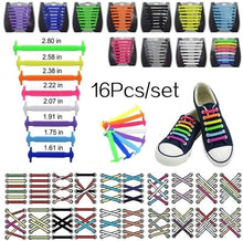Load image into Gallery viewer, 16Pcs/set Silicone Shoelaces Elastic Shoe Laces Special No Tie Shoelace for Men Women Lacing Rubber Shoelace