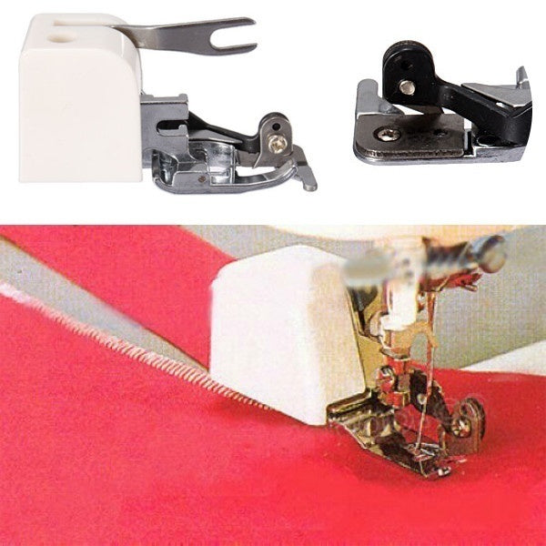 Durable Metal & Plastic Side Cutter Presser Foot/Embroidery Darning Foot for Low-Shank Sewing Machine Stylish Design