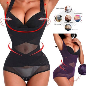 2020 Women Strapless Body Shaper Full Body Waist Trainer Shaper Underbust Corset Cincher Shapewear Bodysuit