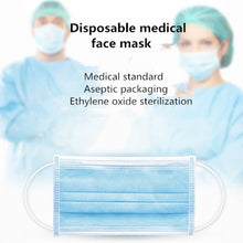 Load image into Gallery viewer, Anti-Dust Safe and Breathable Face Mask Respirator Medical Dental Disposable Ear loop Face Surgical Hypoallergenic