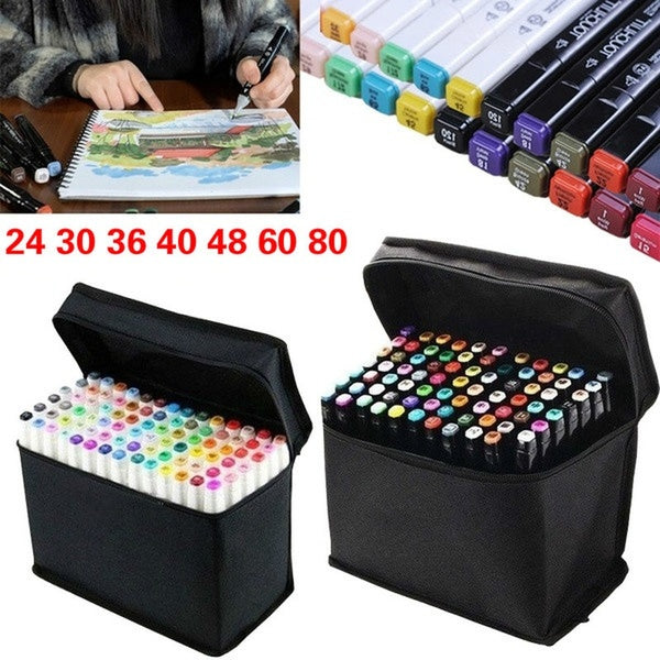 Multiple Colors Artist Dual Head  Copic Markers Set School Drawing Sketch Oily Amine Design Designer_PWM