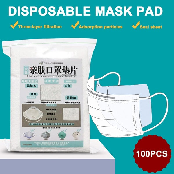 100 PCS Disposable Mask Gasket Pad Respirator Safety Protective Pad for N95 Medical Mask