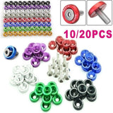 10/20PCS Car Refitting Pad Screws Protection Pad Nuts Bolts Fender Concave Screws Bolt Engine Bay Dress Up Kit