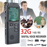 32G / 16GB / 8G USB Portable Mini Recorder Multi-function Rechargeable HD Recorder Conference Interview