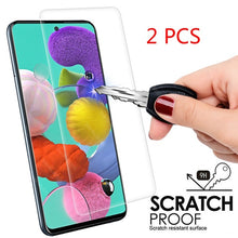Load image into Gallery viewer, 2 PCS 9H HD Tempered Glass For Samsung Galaxy A71 A51 A50S A30S A10 A30 A50 A70 A40 A20 A80 A90 A60 A7 2018 9H Screen Protector