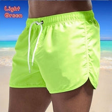 Load image into Gallery viewer, NEW Men Summer Fashion Quick Dry Shorts Men Swimwear Beach Shorts Swim Shorts Beach Wear Sports Shorts
