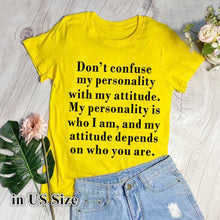 Load image into Gallery viewer, Cotton Graphic Funny Tee: Short Sleeves, Loose, Graphic Tee with Funny Saying
