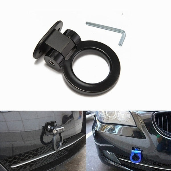 Fashion 6 Colors Aluminum Car Auto Racing Tow Hook Towing Trailer Ring for Universal Car Accesssiors