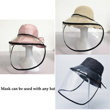 Load image into Gallery viewer, Protective Transparent Face Mask Removable Protective Cap Anti-fog Saliva Windproof Fisherman Hat Outdoor Supplies