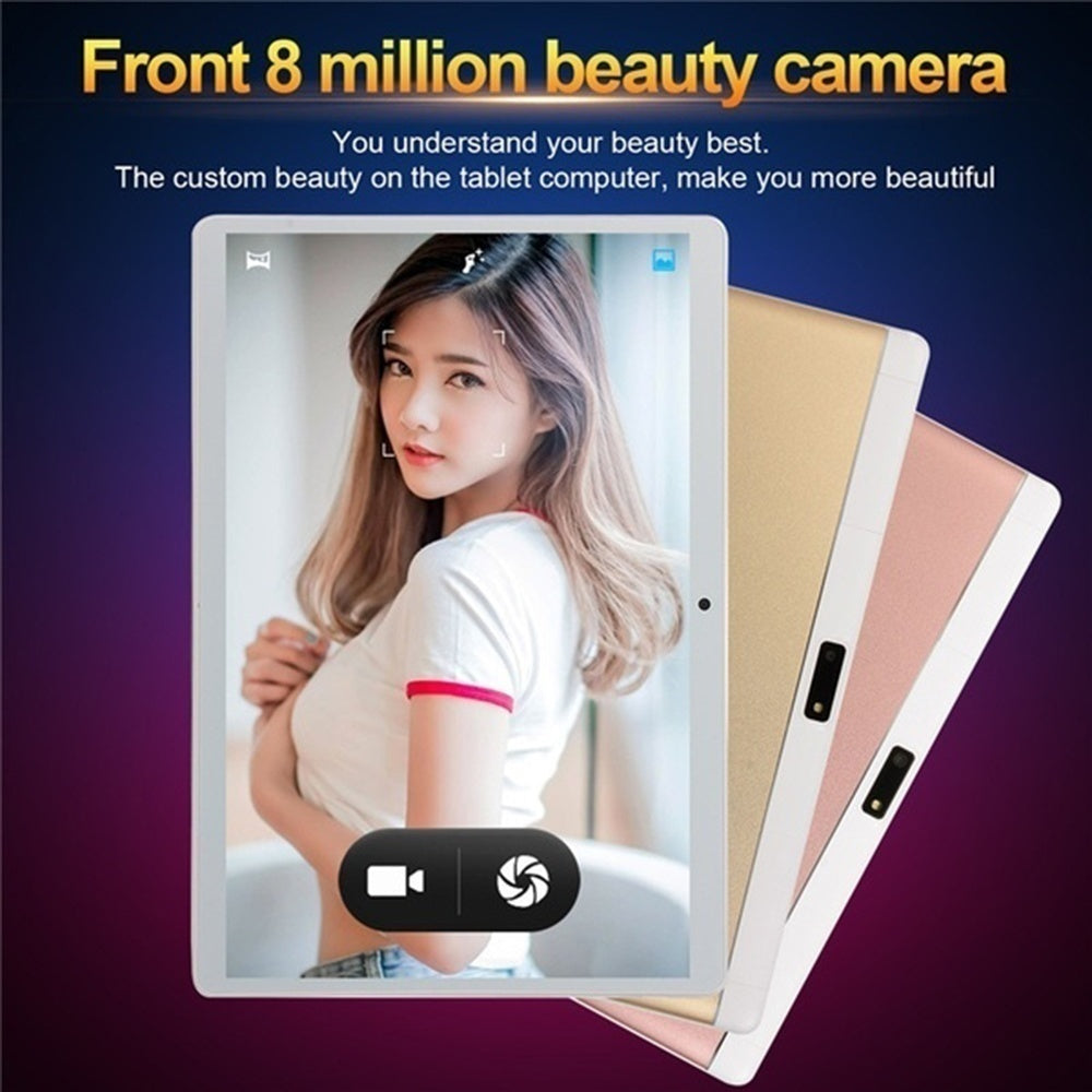2020 New Upgraded 10.1 Inch Octa Core 8G+512GB Andoid 9.0 WiFi Tablet PC 2560*1600 IPS Screen Tablets Support Dual SIM Card HD Camera Phone 4G Computer PK iPad Pro iPad Air iPad mini