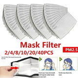 2/4/8/10/20/40 pcs Child/Adult PM2.5  5 Layer Activated Carbon Filter Disposable Face Mask Breathing Insert Protective Mouth Mask Filter Anti-Fog Anti Dust Mask Respirator Filter