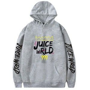 Fashion Letter Printed Hoodies Juice Wrld 999 Long Sleeve Casual Hooded Sweatshirt Pullover