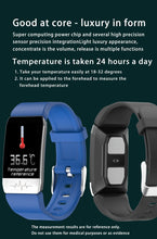 Load image into Gallery viewer, Bluetooth Electronic Smart Watch Thermometer Temperature Wristband Measurement Run Route Track Fitness Tracker Smartwatch