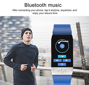Bluetooth Electronic Smart Watch Thermometer Temperature Wristband Measurement Run Route Track Fitness Tracker Smartwatch
