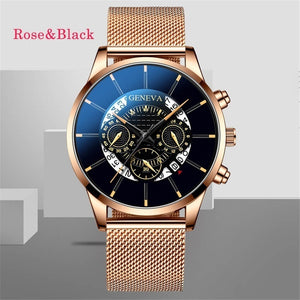 Men Business Leathes Mesh Belt Watches Ultra-thin Casual Top Brand Quartz Wrist Watches for Men Montre Homme Simple Round Blcak Classic Analog Watches