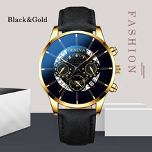 Load image into Gallery viewer, Men Business Leathes Mesh Belt Watches Ultra-thin Casual Top Brand Quartz Wrist Watches for Men Montre Homme Simple Round Blcak Classic Analog Watches