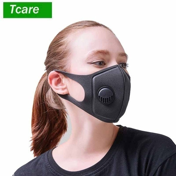 Pollution Mask Military Grade Anti Air Dust and Smoke Pollution Mask with Adjustable Straps and a Washable Respirator Mask Made For Men Women and Kids