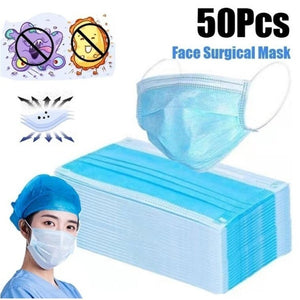 50 Pcs/20/10/5Pcs 3-Ply Disposable Surgical Mask Dust Breathable Earloop Antiviral Face Mask, Medical Sanitary Surgical Mask Thick 3-Layer Masks