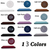 13 Colors Waterproof Sofa Cushion Cover Waterproof Jacquard Polyester Spandex Couch Seat Cover Solid Color Loveseat Chair Cushion Slipcover 1/2/3/4 Seat