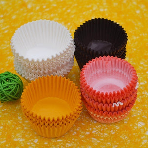 300pcs Mini Cupcake Liner Baking Cup Cupcake Paper Muffin Cases Cake Box Cup Tray Cake Mold Decorating Tools