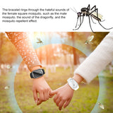 Mini Ultrasonic Anti Mosquito Insect Pest Bugs Repellent Repeller Wrist Bracelet Outdoor for Kids Adult
