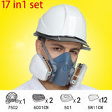 7502 Painting Spraying Gas Mask Chemcial Safety Work Gas Mask Proof Dust Facepiece Respirator Mask With  6001 Filter