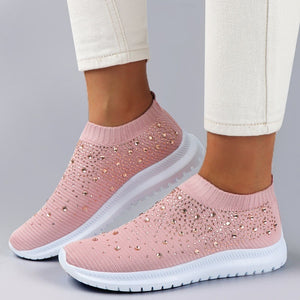 new twinkle trend beautiful Women Shoes Rhinestone Sneakers Slip on Shoes Casual Running Shoes Lightweight Shoes