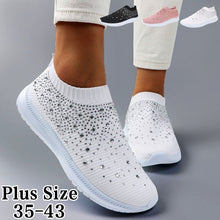 Load image into Gallery viewer, new twinkle trend beautiful Women Shoes Rhinestone Sneakers Slip on Shoes Casual Running Shoes Lightweight Shoes