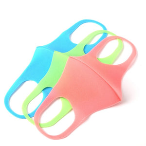 3pcs Kids Outdoor Cycling Anti Dust Haze Sponge Mouth Face Mask Respirator Face Masks