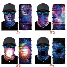 Load image into Gallery viewer, 3D Cool Universe Celestial Bodies Star Skull Mask Ski Scarf Neck Sleeve Riding mask Bandana