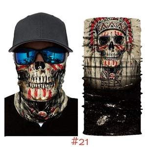 3D Cool Universe Celestial Bodies Star Skull Mask Ski Scarf Neck Sleeve Riding mask Bandana
