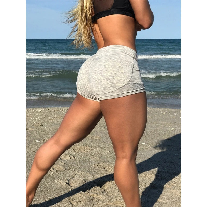 Women Sexy Hip Lifting Yoga Shorts Slim Fit Elestic Waist Workout Shorts Fashion Summer Athletic Lounge Short Pants