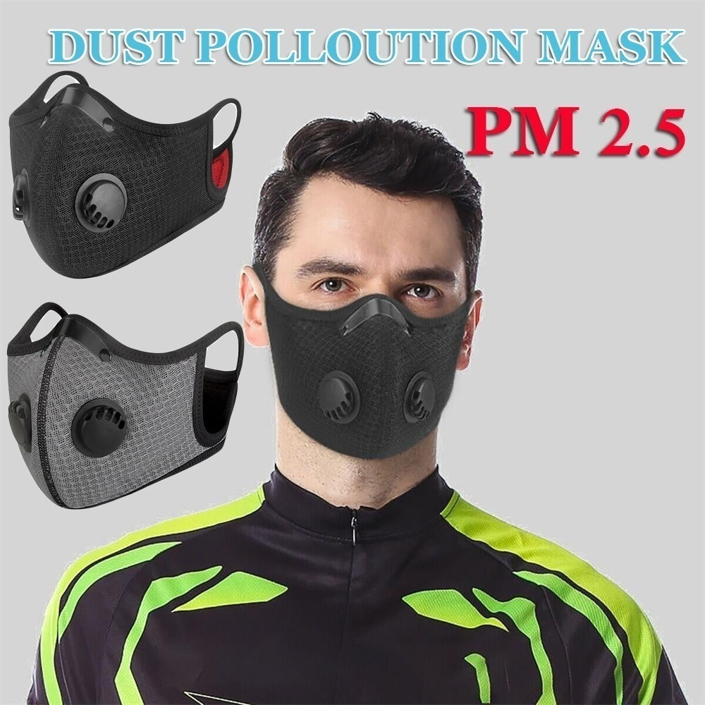 1PC New Respiratory Health Care Anti-Bacterial Air with Filter Valve Face Mouth Respirator PM2.5 Anti-Dust Mask Filtered Activated Carbon Breathable Valve Mask