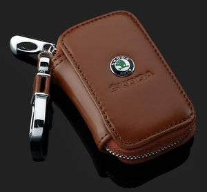 Car Key Holder Case Leather Key Chain Wallet Bag Cover Fobs for For Hyundai Peugeot Nissan and Other All Cars