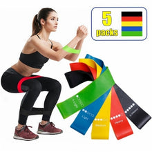 Load image into Gallery viewer, Yoga Resistance Rubber Bands Indoor Outdoor Fitness Equipment 0.35mm-1.1mm Pilates Sport Training Workout Elastic Bands