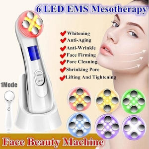 2020 new Professional RF Radio Frequency Device 6/5 LED Photon Electroporation Beauty Instrument