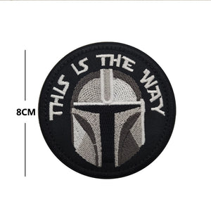 This Is The Way Embroidery Patch Tactical Morale Military Sparta Sticker Decal Army Operator Helmet Tactical Morale Patches Applique Embellishment