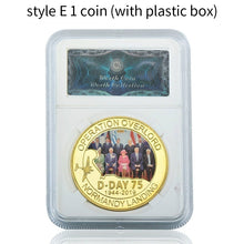 Load image into Gallery viewer, Normandy Landing World War II Largest Sea Landing Operation In The World Gold Collect Coin Operation Overlord Army Souvenir Gifts