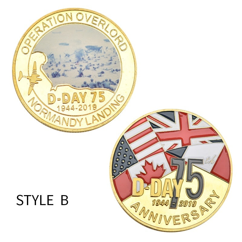 Normandy Landing World War II Largest Sea Landing Operation In The World Gold Collect Coin Operation Overlord Army Souvenir Gifts