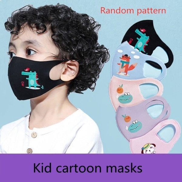 Cute Kids Anti-Dust Face Mouth Mask Lovely Breathable Washable Cotton Mouth Mask Random pattern