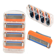 Load image into Gallery viewer, 8/12/24 pcs New 5 Layer Blades Fusion Proglide Power Shaving Razor Blade for Men (Color: Orange)
