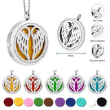 Fashion Jewelry Stainless Steel Locket Fragrance Essential Oil Oils Aromatherapy Necklace Diffuser Pendant Gift for Women Lady Young Living