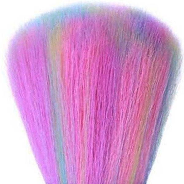 Rainbow Nail Art Cleaning Brush Acrylic Dust Remover Brush Tool for nail care