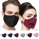 PM2.5 Anti-smog Protective Cover With 2 Filters Activated Carbon Cycling Sunscreen Cover Respirator Medical Covers For Men Women and Kids Face Protection Mouth Cover